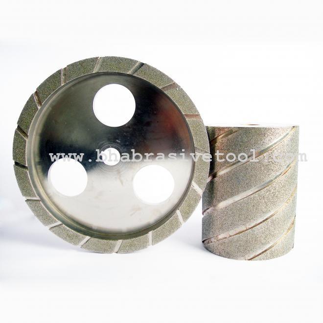 Electroplated bond grinding wheel
