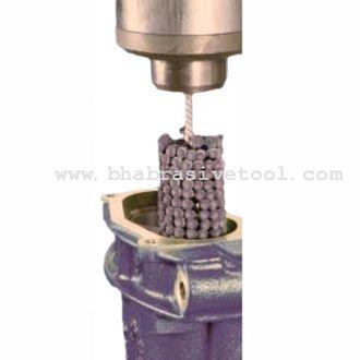 Abrasive bead-style honing brush